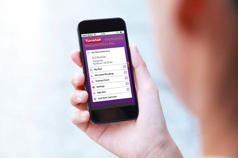 Tunstall's mymobile app takes connected health mobile.