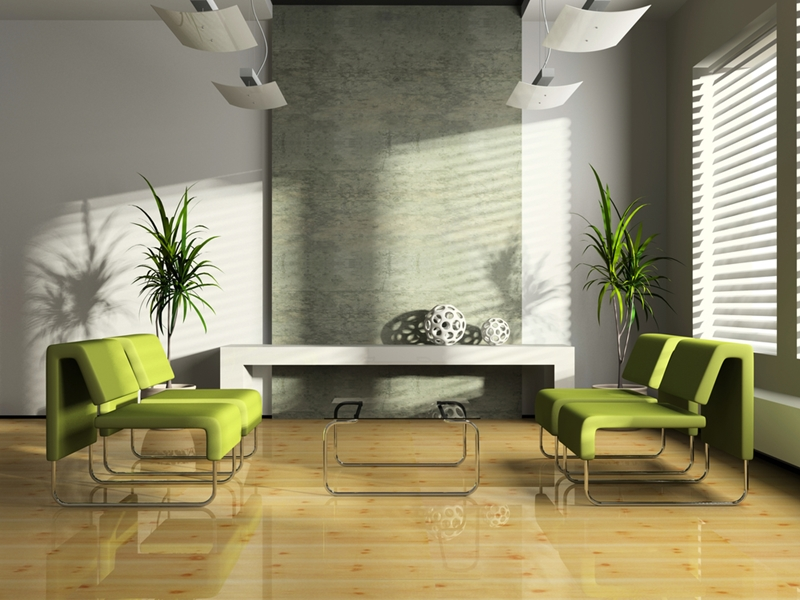Blinds can add to the personality of an office space.