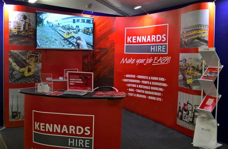 Kennards Hire had an indoor stall as well as an outdoor equipment area.