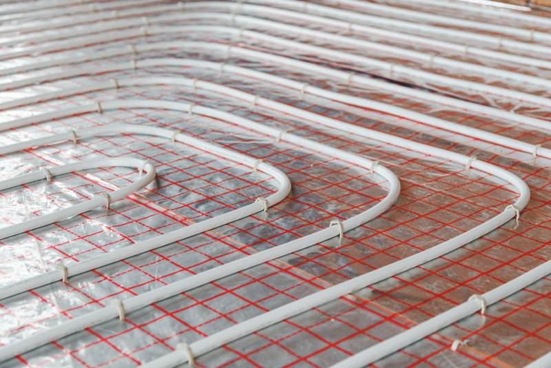 Once installed, under floor heating is easy to maintain.