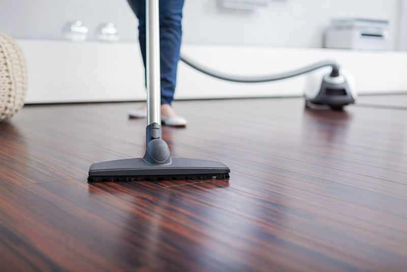 Vacuum your timber floor before getting the mop out.