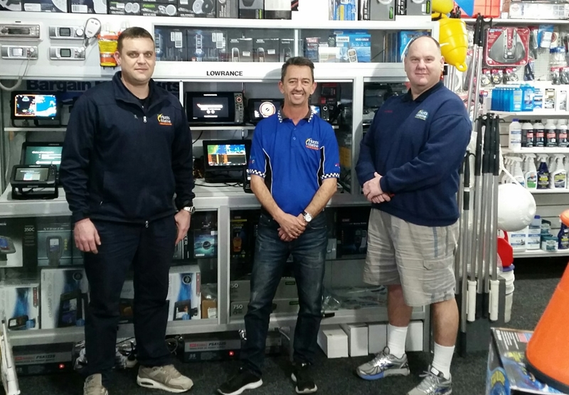 The team at Hunts Marine's Sydney accessories department.
