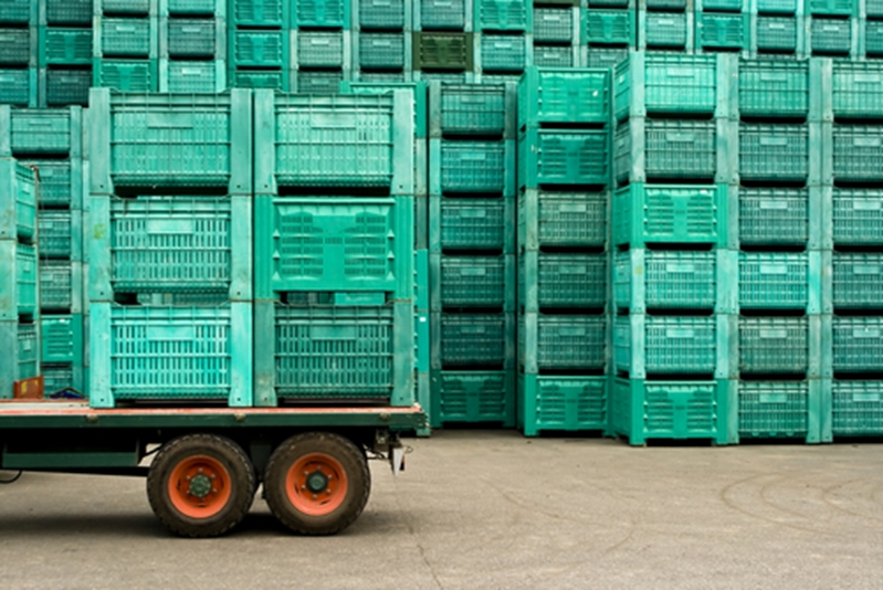 Your systems can get moving with reusable plastic crates.