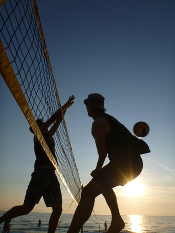 Volleyball is great for improving reflexes, balance and muscle tone.