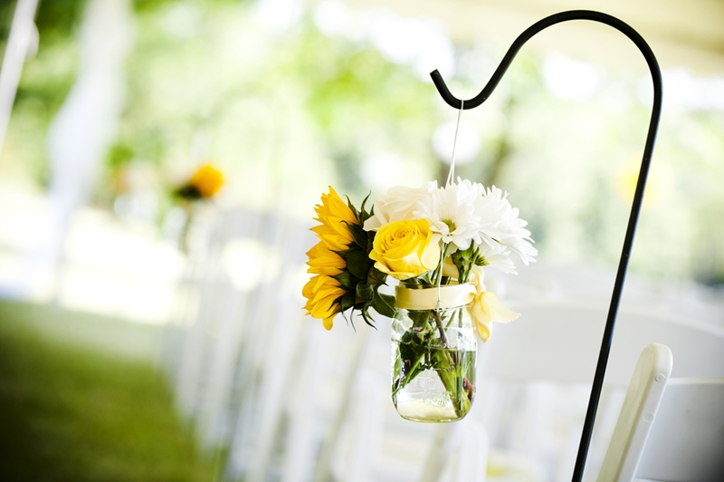 Mason jars are a perennial favourite for wedding decorations.