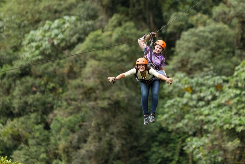 Ziplining is a great way to take in the views, with some extra thrills thrown in,