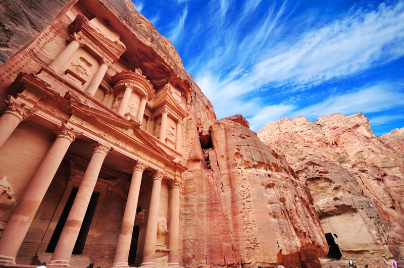 Thousands of years later, sandstone statues are still standing.