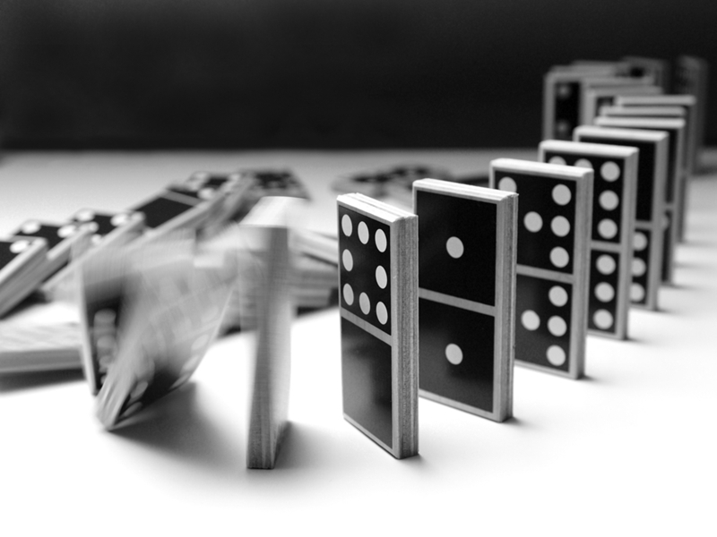 It's best to get all your dominoes in a row before capitalising.