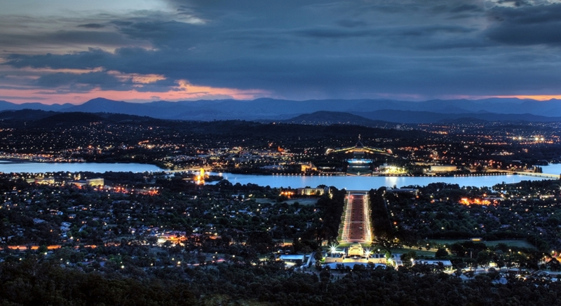 Enjoy the sights from Mount Ainslie.