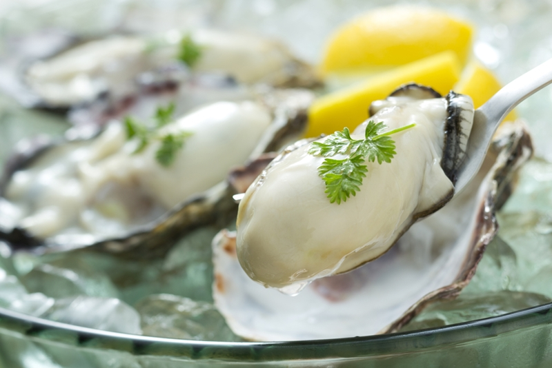 Make sure the oysters are open when cooking.