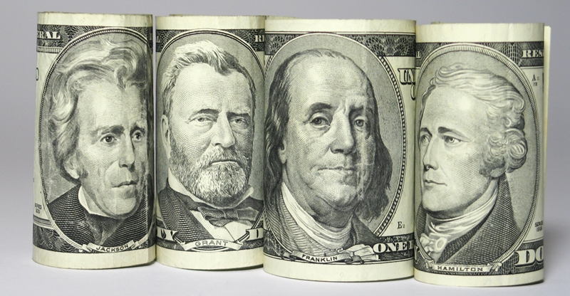 American money can all look the same when first encountering it. However, take the chance to look at the historic portraits on each.