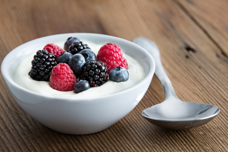 Soft foods like yogurt will help to avoid agitating the blood clot.
