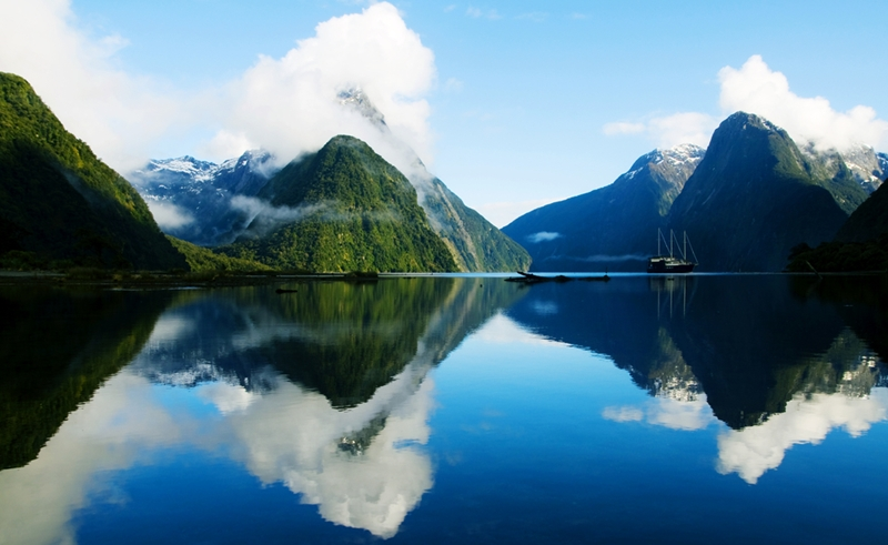 Milford Sound, near Queenstown, must be seen.