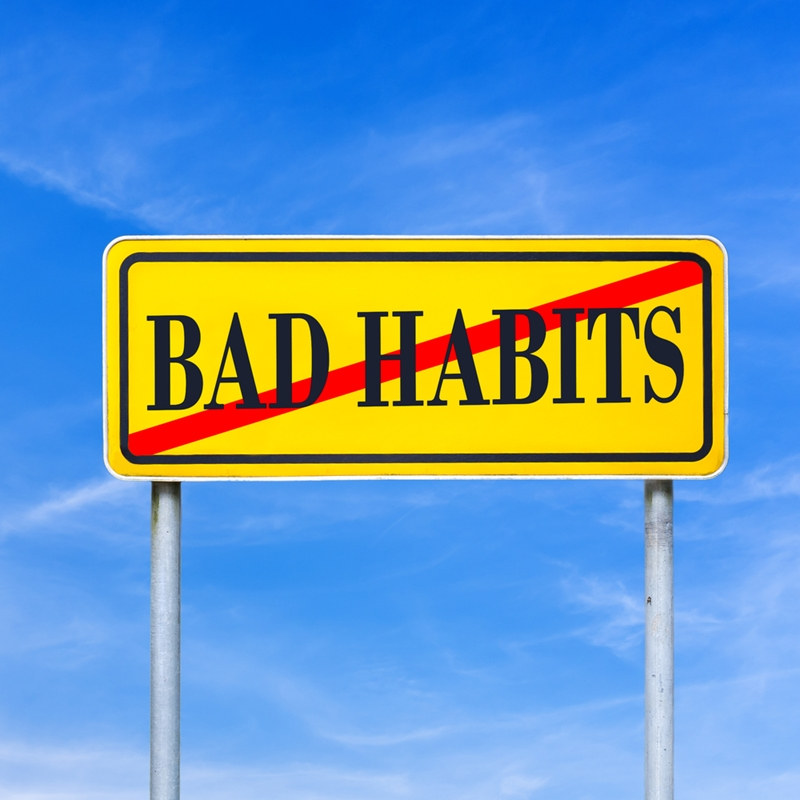 Bad habit sign