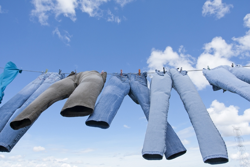 Drying clothes on the line can cut your energy costs.