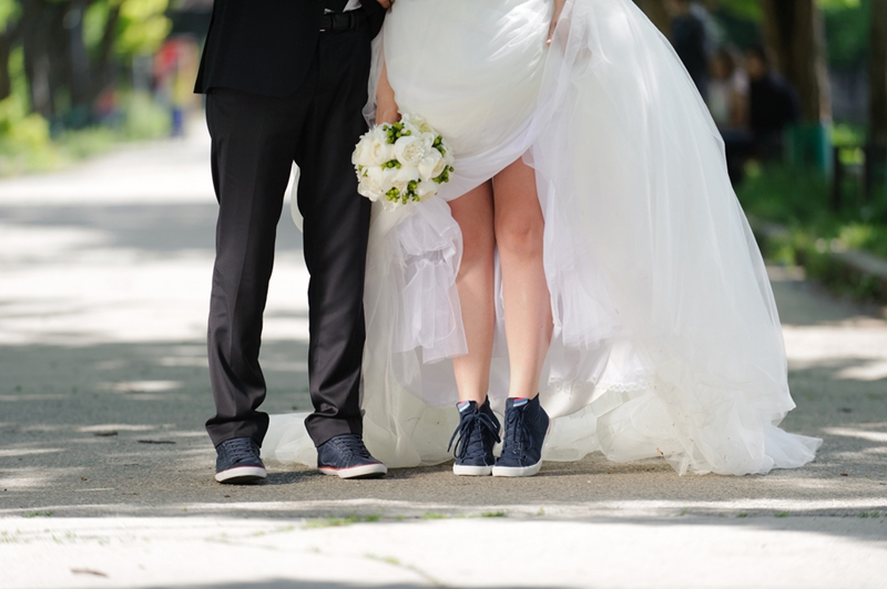 All bets are off when it comes to what shoes you can wear on your wedding day.