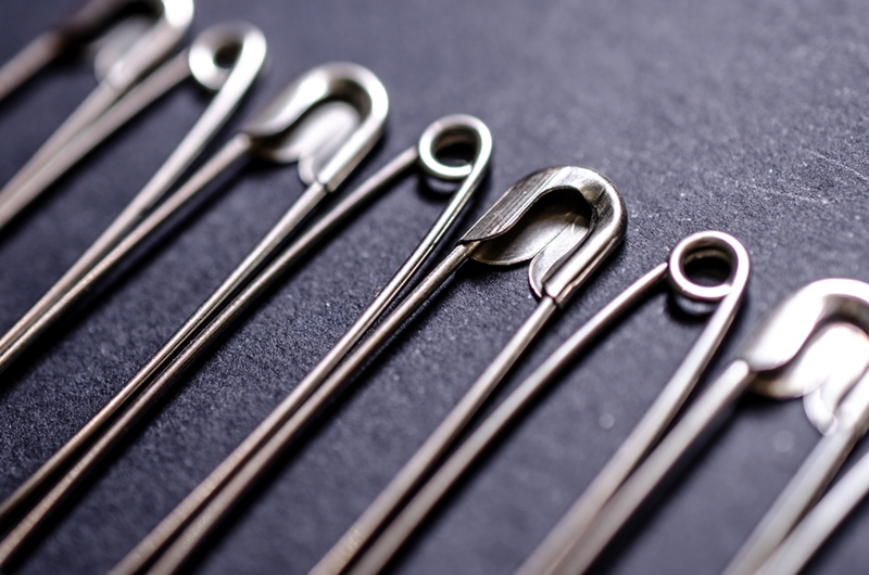 Safety pins can add flexibility and resilience to your wardrobe.