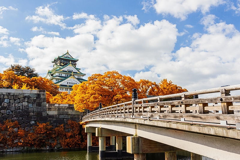 Osaka Castle is one of the top attractions to see in the Kansai region.