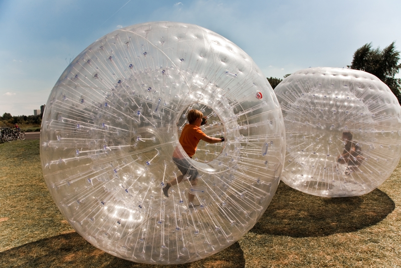 Zorb is a must-do when you visit Rotorua in the central North Island.