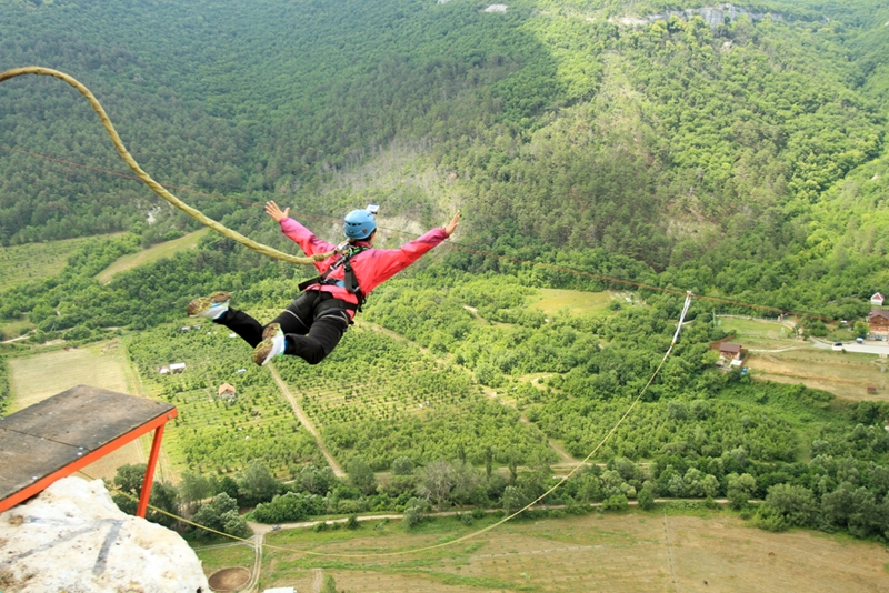 Feel the exhilaration of a thrilling bungy jump in Rotorua.
