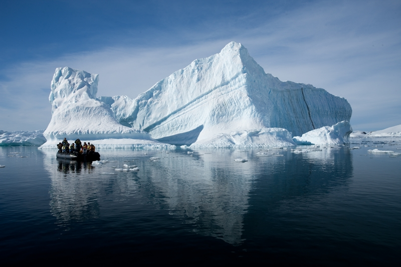 Cruising past Antarctica's giant icebergs is a favourite activity on our expeditions.