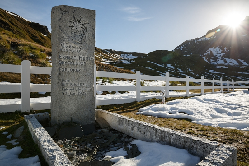 Pay your respect at Shackleton's grave in Grytviken.
