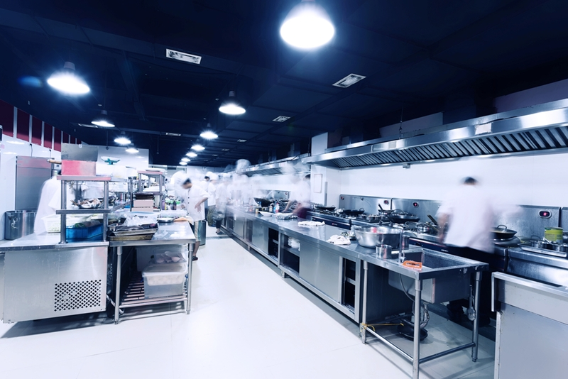 Ensuring work stations are clean and clear is vital to food safety.