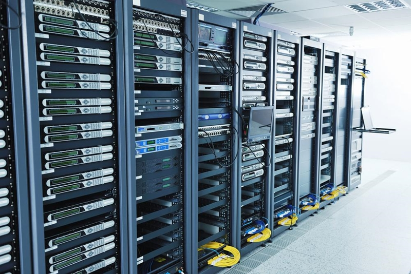 Wall of network servers