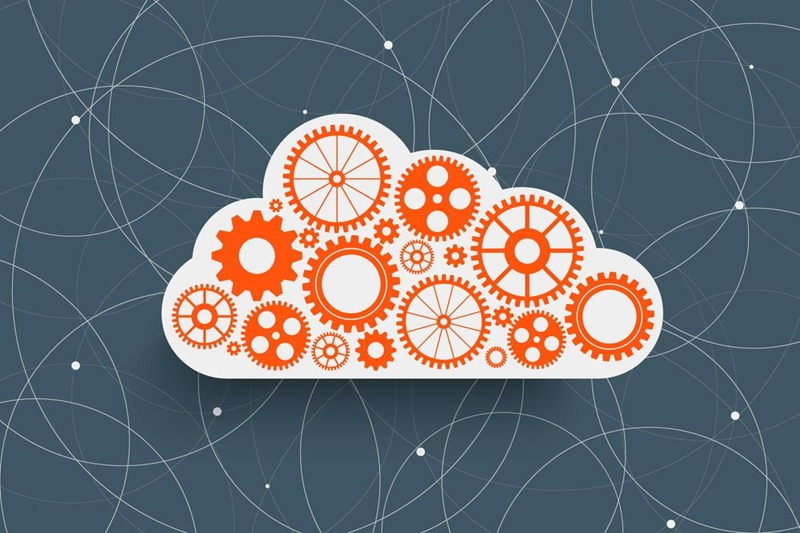 A digital image representing cloud computing.