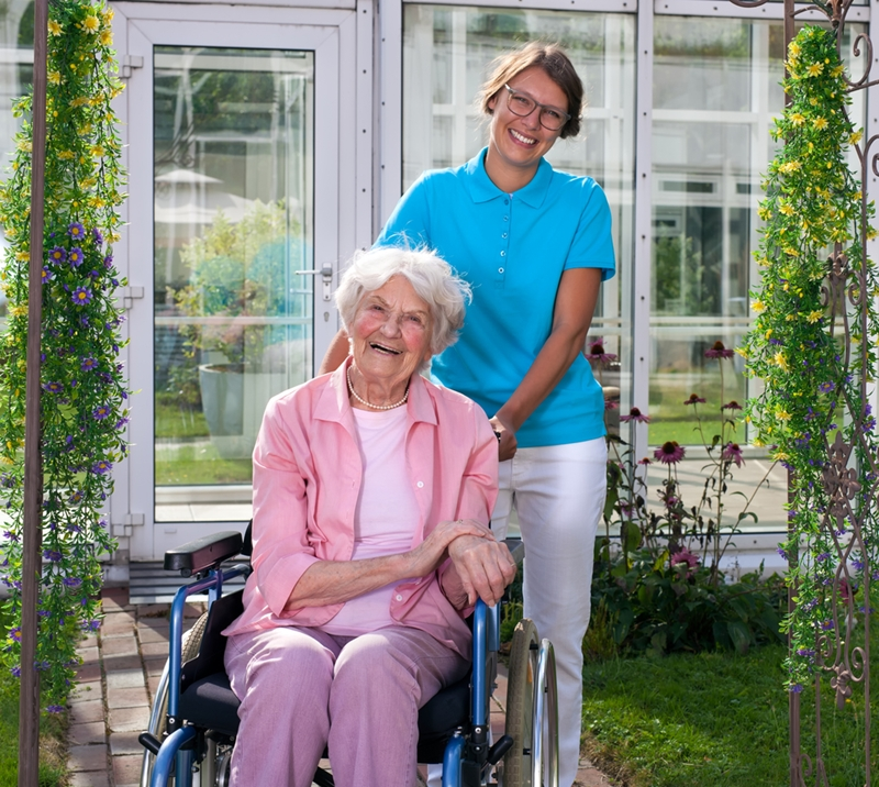 In-home care provides elderly support in the home.