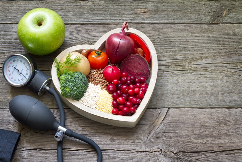 Focus on heart-healthy foods.