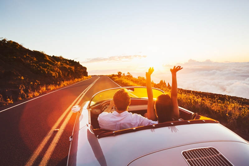 Top down, music up that's the way to road trip.