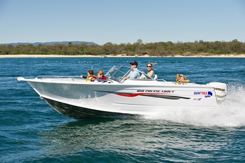 The Blade Hull of the Quintrex 610 Cruiseabout will cut effortlessly through the water.
