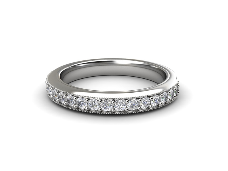 Eternity rings are another popular use for platinum in jewellery.