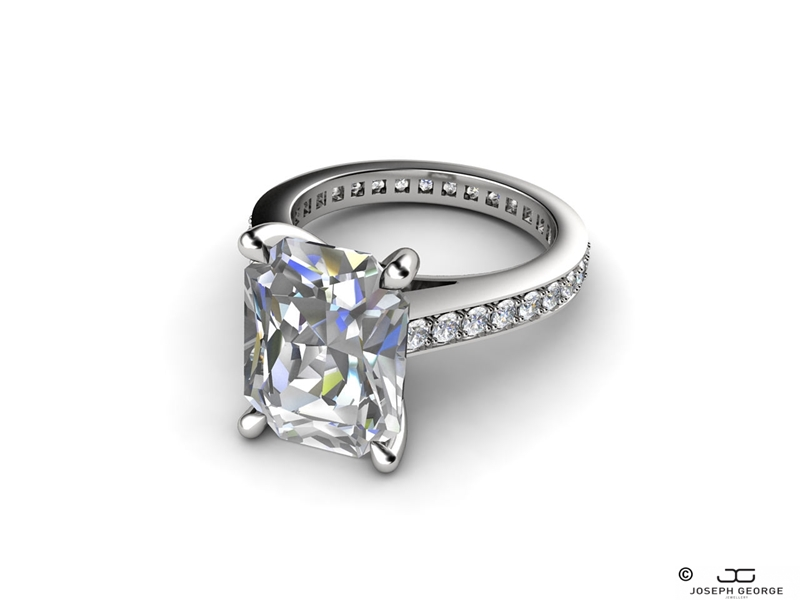 Our Rhea engagement ring screams New York glamour.