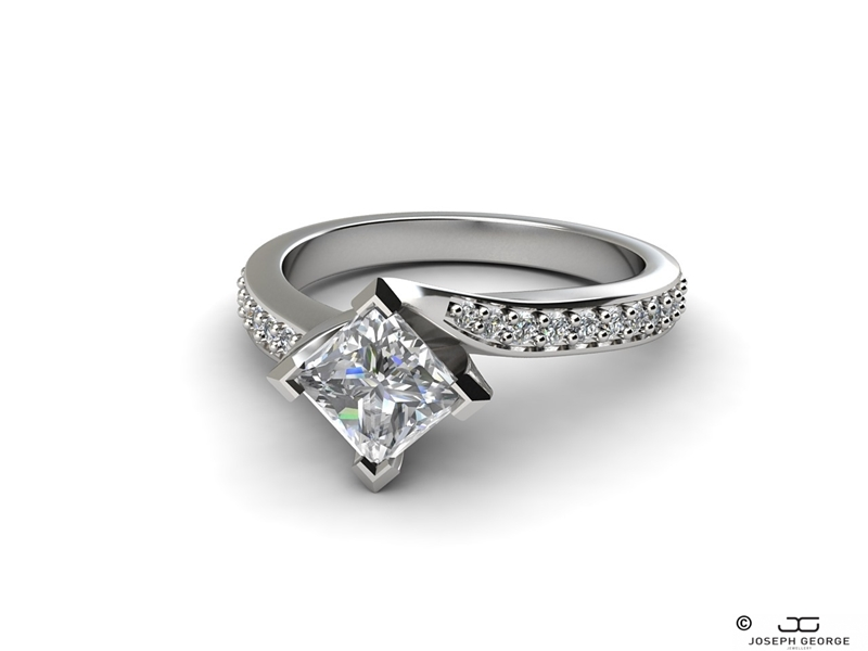 Our Thalia engagement ring is a nod to Tokyo style.