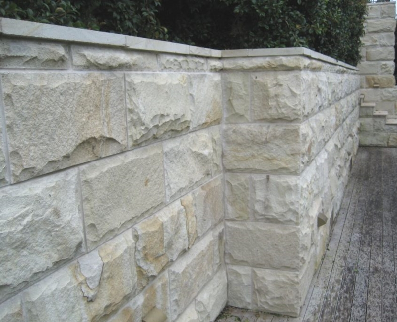 Sandstone wall tiles outdoors.