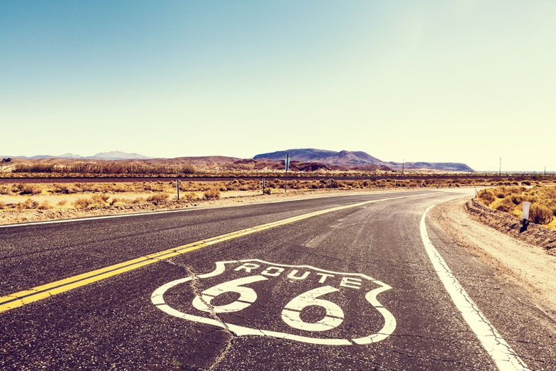 Many of the highway signs have come down, but you can still take a trip down Route 66