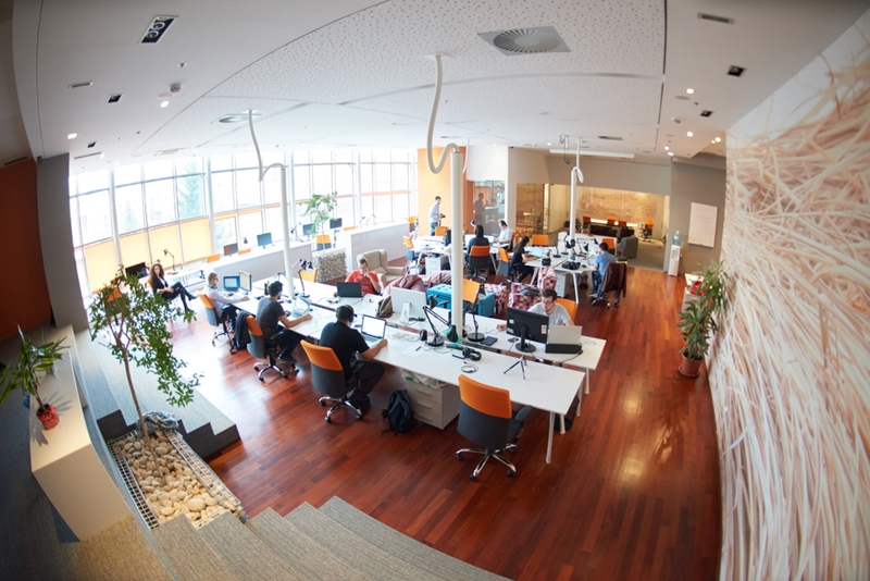 A trendy office and positive atmosphere can go a long way in attracting and retaining staff.