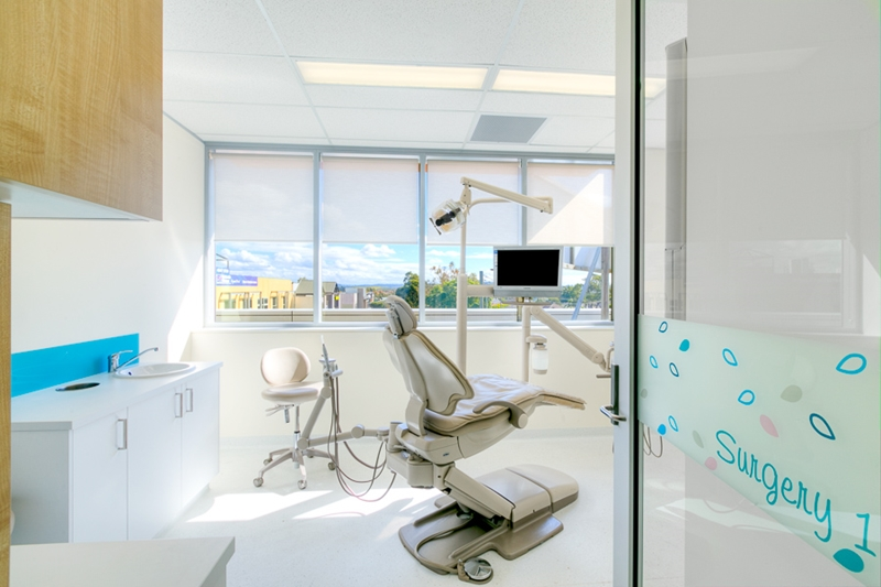 Natural light help to make dental offices calming.