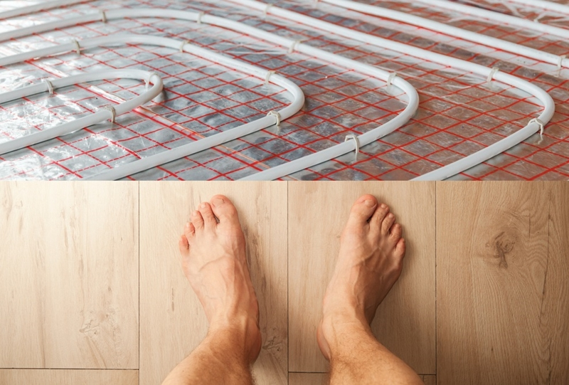 How cold is your bathroom floor?