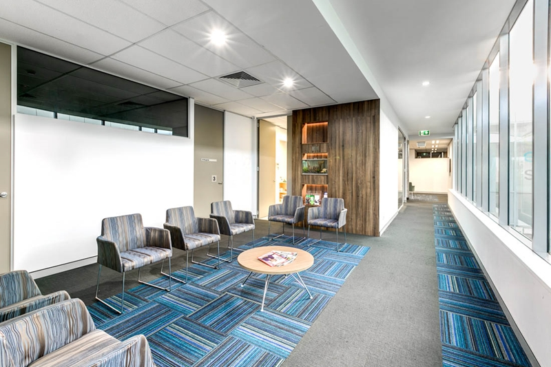 What are the elements to consider with healthcare reception flooring?