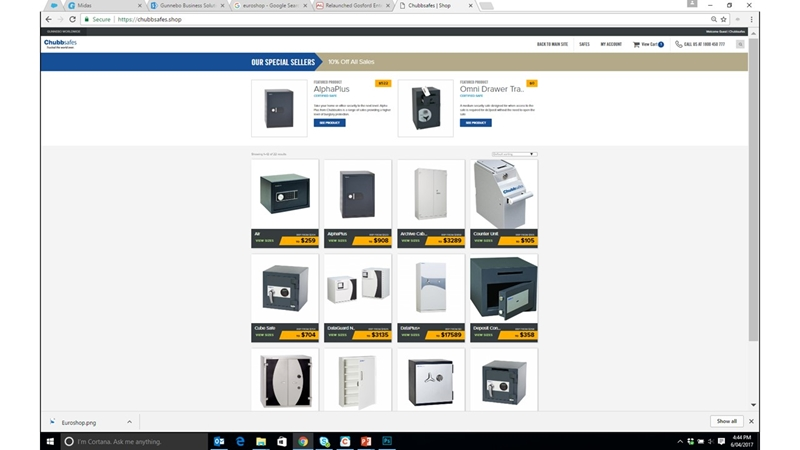 Chubbsafes.shop allows you to view our online inventory in real time.