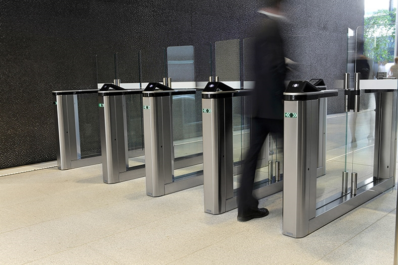 Gunnebo's biometric speedstiles allow for seamless entrance control.