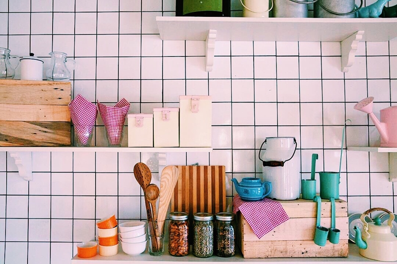 Saving space in your double-storey home's kitchen is easy with a little creativity.
