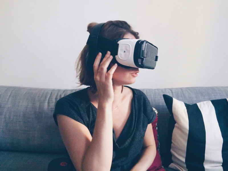 Woman in VR consultation