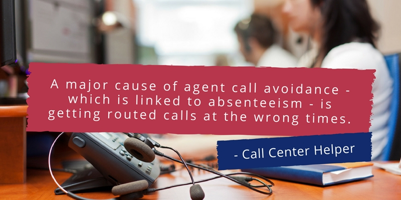Australian call centre leaders can prevent absenteeism with better scheduling.