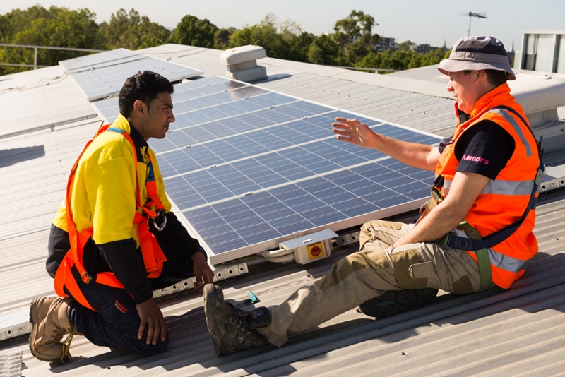 Energy efficiency and renewables training is a great specialisation for electricians.