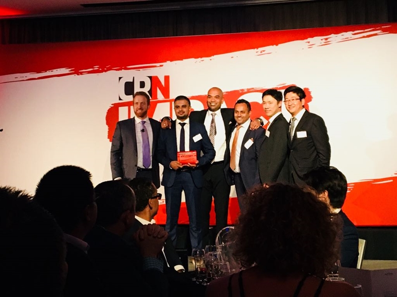 The Cohesio Group team at the 2018 CRN Awards. (Photo Credit: CRN)