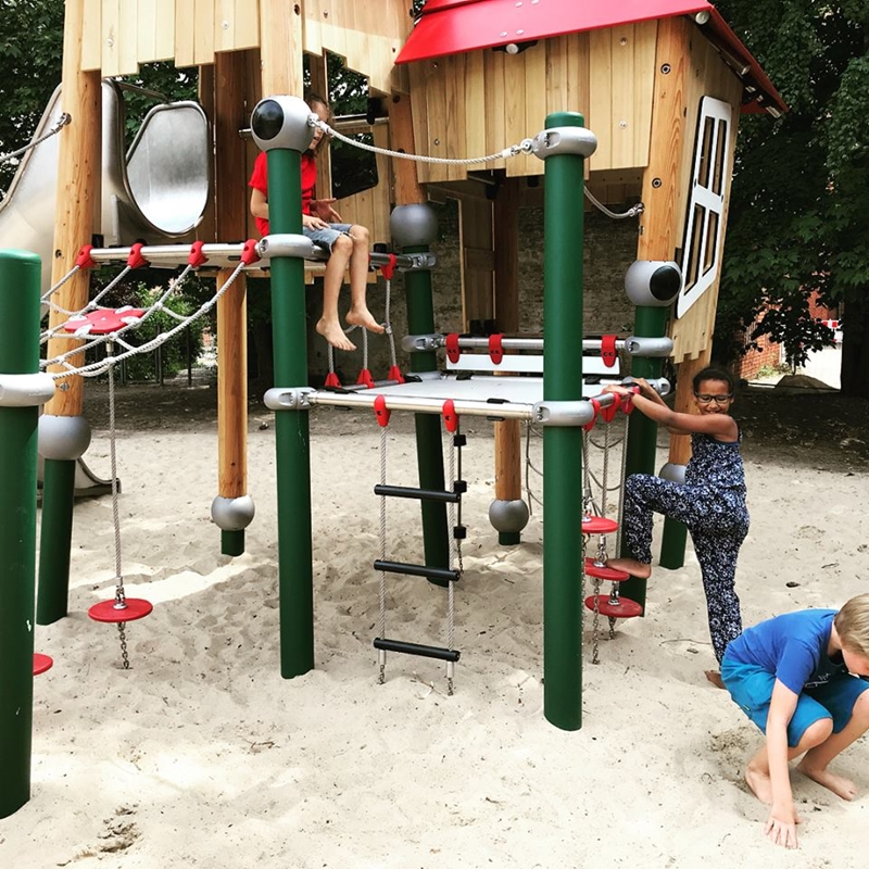 Consider the layout of your playground, and how you want the space to be used.